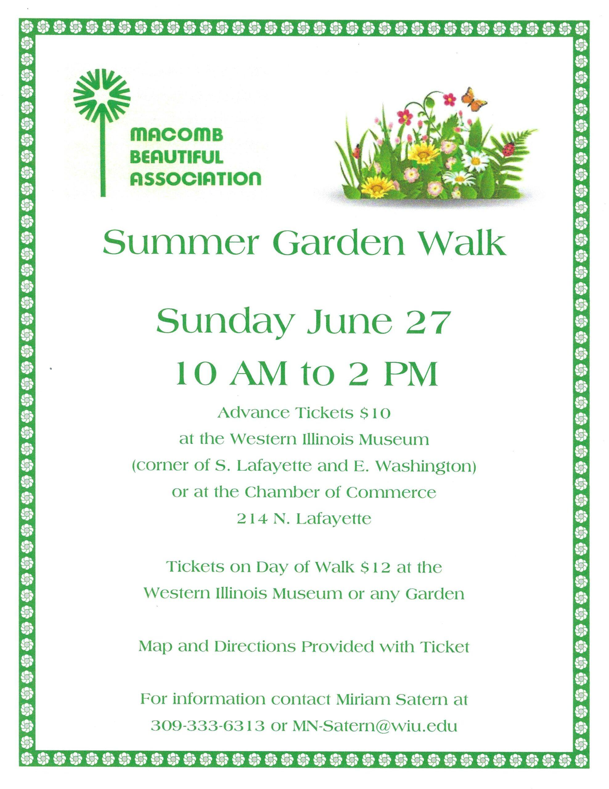 Summer Garden Walk